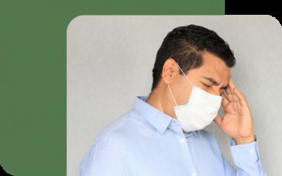 Is een masker dat de mond en neus bedekt vrij van ongewenste bijwerkingen?
