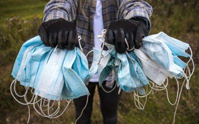 Mondkapjes maken plastic soep groter: 129 miljard mondkapjes per maand
